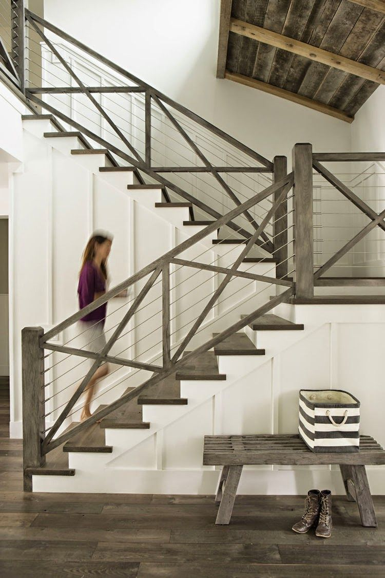 Easygoing Coastal Stair Railing.