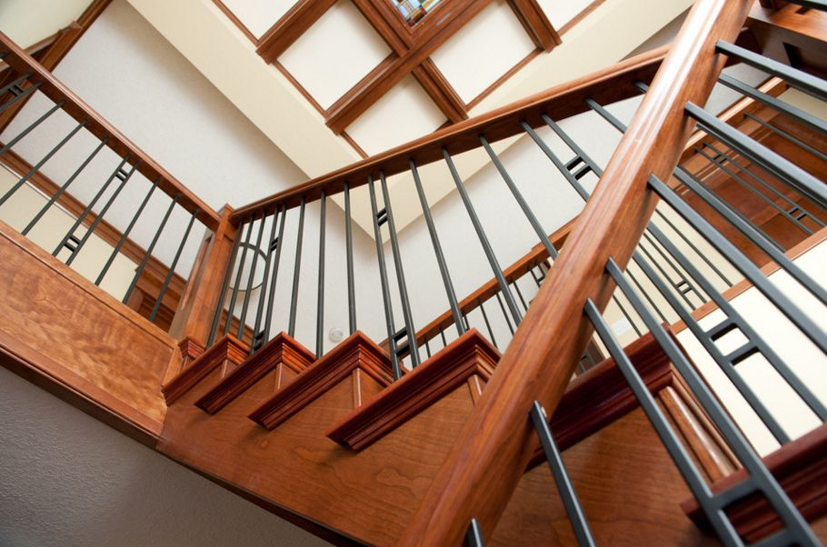 Traditional Closed Riser Stair with Clean contemporary lines