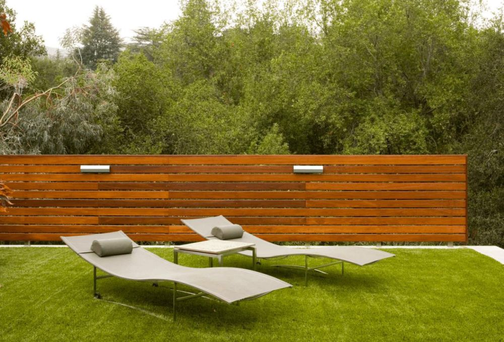 Backyard Horizontal Wood Fence