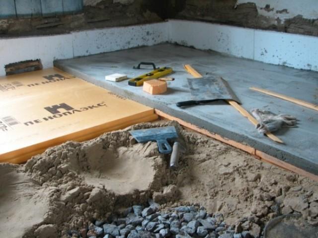 полы по грунту на даче